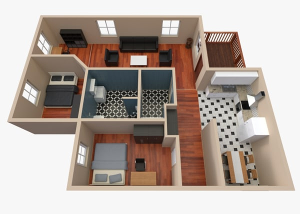 pbr house 2 3d model