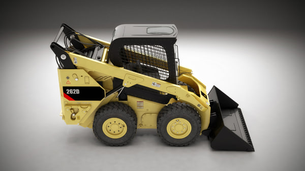 3d skid steer loader industry model