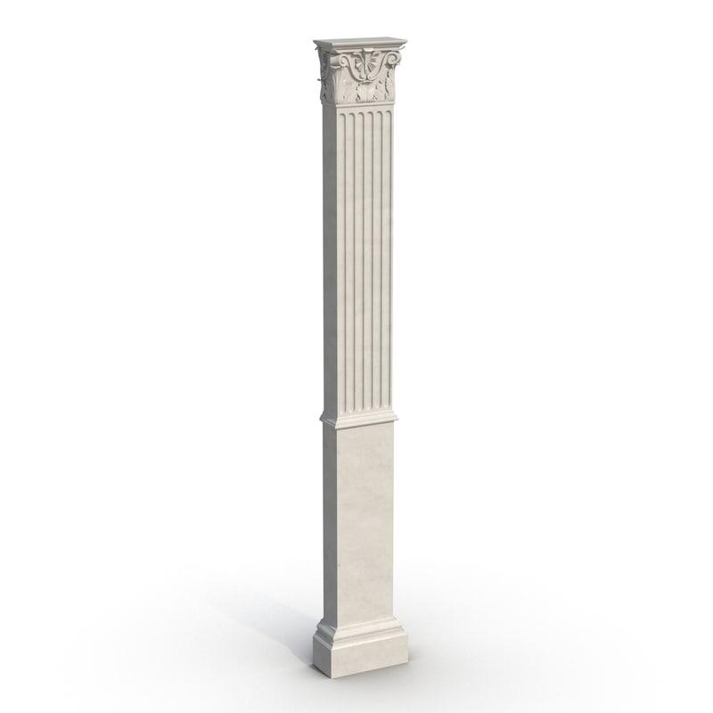 column corinthian greco roman 3d model