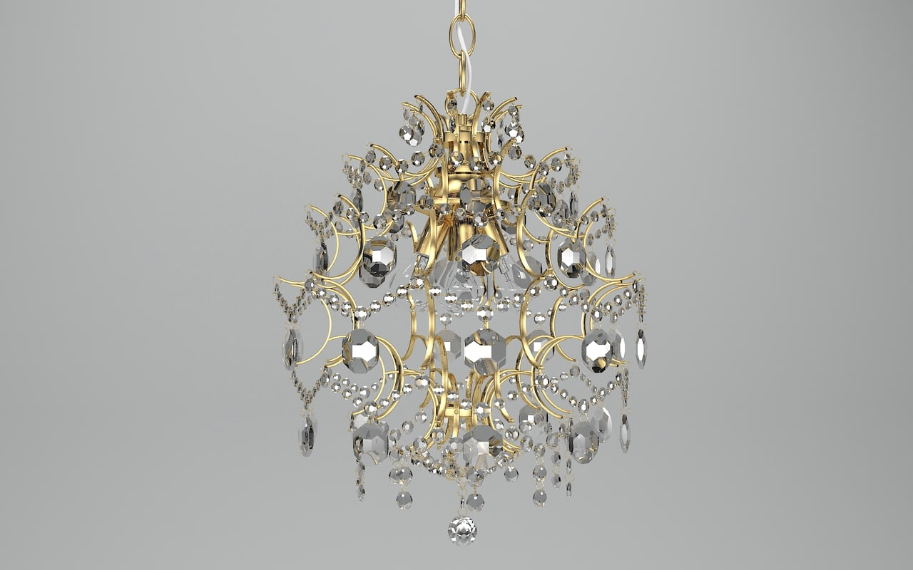 3d model of rosendal chandelier