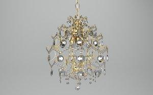 3d model of rosendal chandelier
