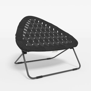 bungee chair 3d obj