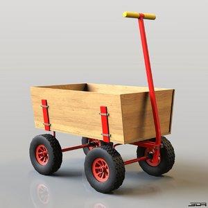 modern wagon 3d obj