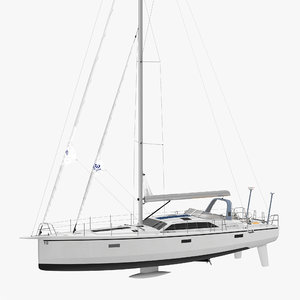 offshore sailing yacht 3d model