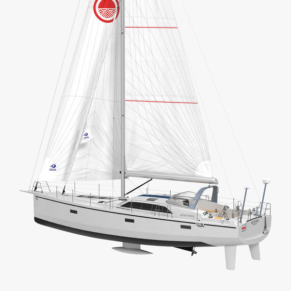 3d offshore sailing yacht 2 model