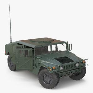 3d humvee rigged model