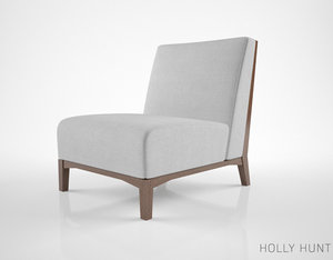 holly hunt io chair 3d model