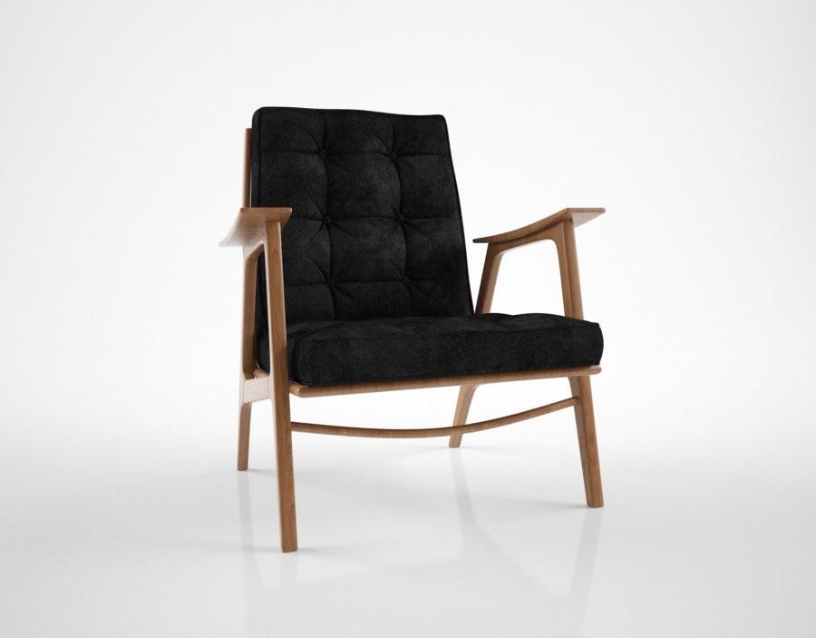 pierre guariche vendome armchair 3d model