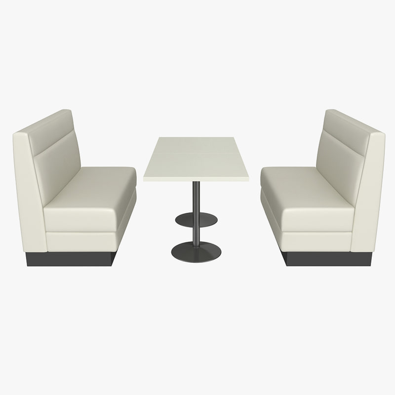 booth banquette 3d model