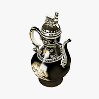 teapot brewing tea 3d max