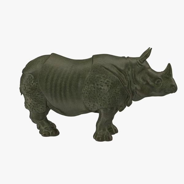 max rhino statue