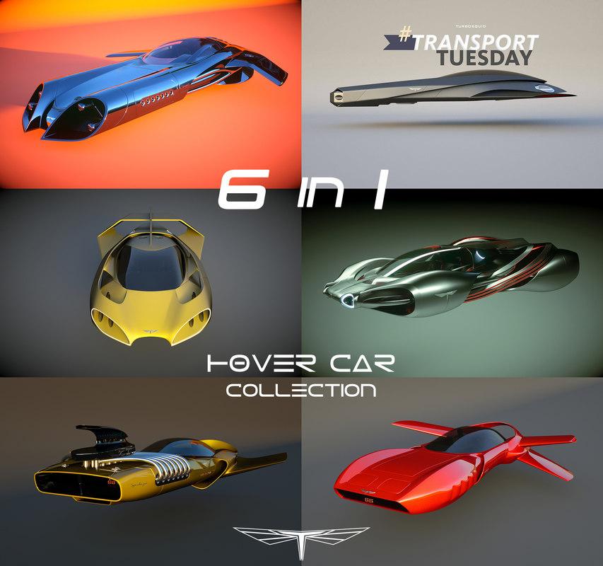 3d max 6 1 hover car