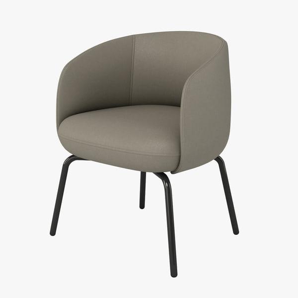 3d model halle nest chair