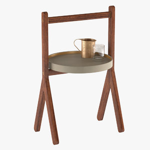 3d model table poltrona frau sides