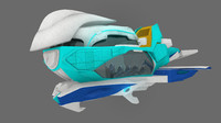 cartoon airship 3d model
