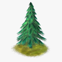 cartoon tree 02 3d max
