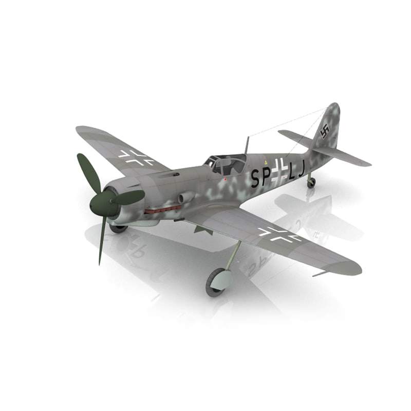 3d messerschmitt model