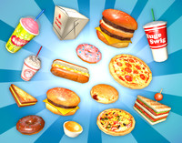 3d model fast food pack