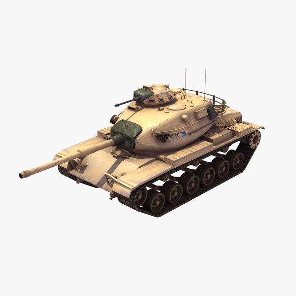 3d model m60a3 battle tank