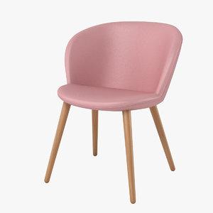 halle capri chair 3d model
