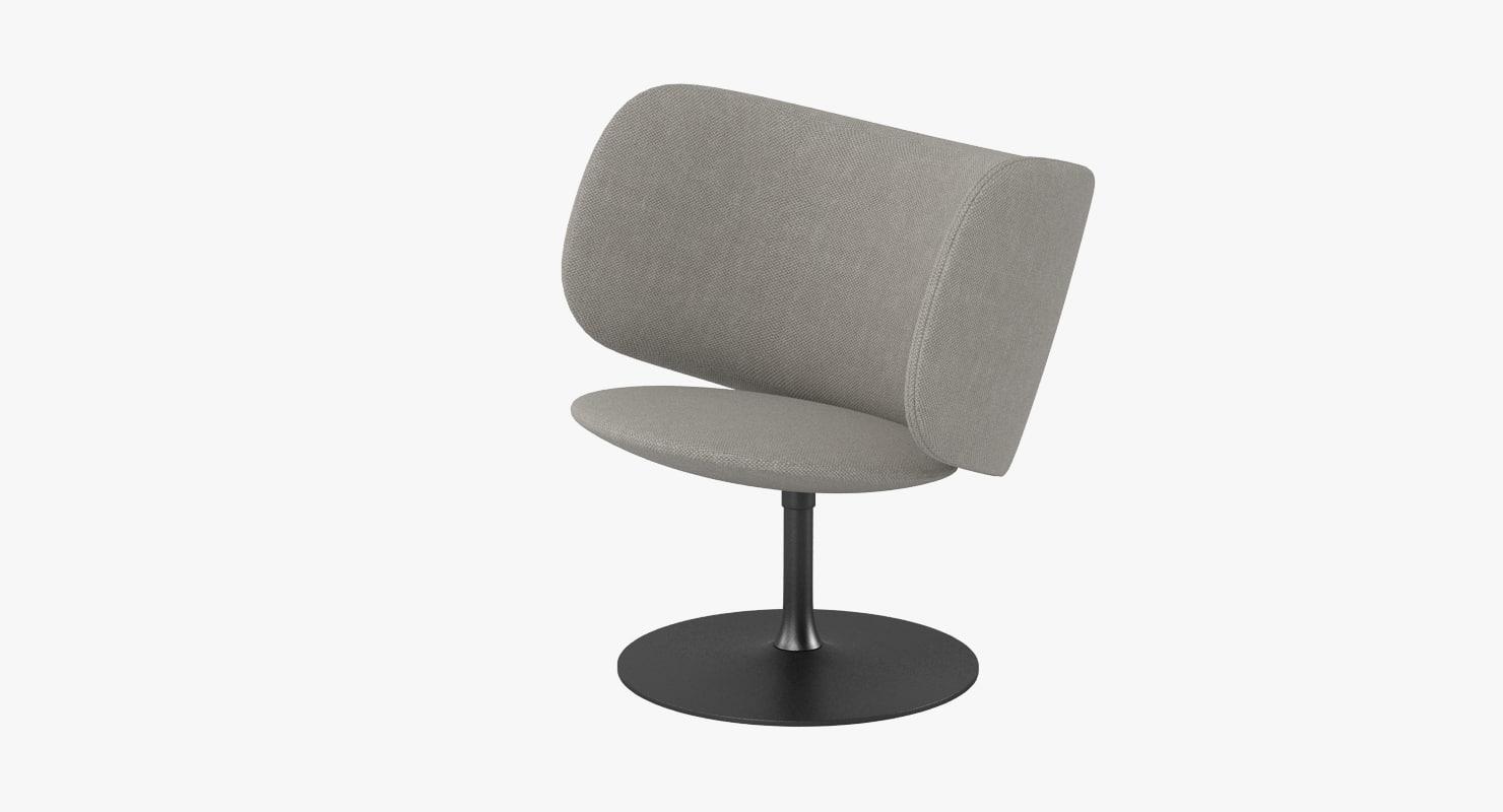 3d halle stella chair model
