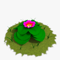 3d scanline flower plants