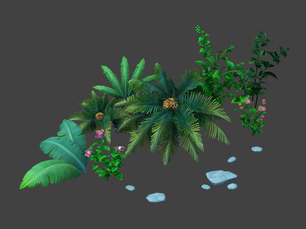 max bush plant cartoon