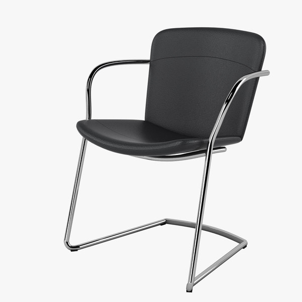halle land cantilever chair 3d model