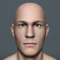 3d model man paul lite male character