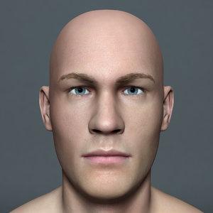 3d model man paul lite male character