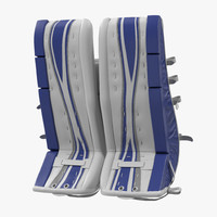 Hockey Goalie Leg Pads Generic 3D Model