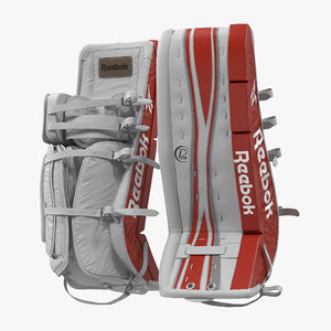 hockey goalie leg pads 3d model