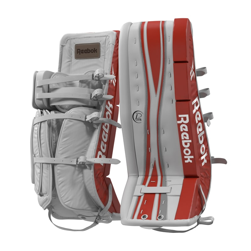 Hockey Goalie Leg Pads Reebok 3D Model