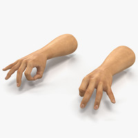3d man hands 2 pose