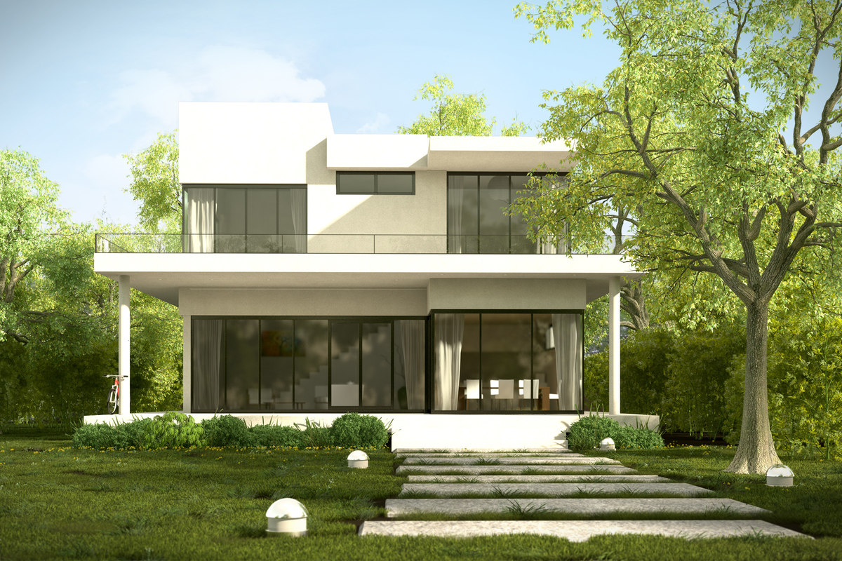 Modern house garden home design for Modern house 42