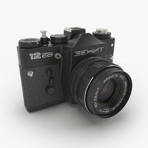 3d model zenit 12 photo camera