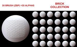 Wall Brick Brush Collection