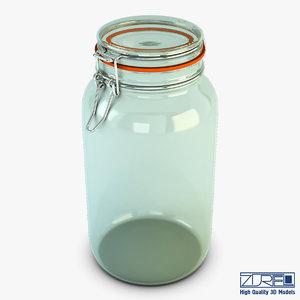 3d model of jar hermetic 2 liter