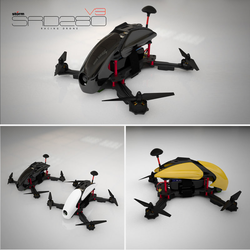 3d storm racing drone srd280 model