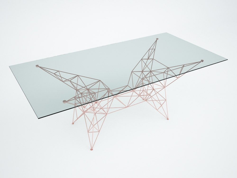 3ds pylon dining table