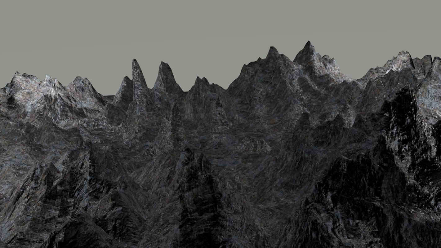 mountainous landscape 3d 3ds
