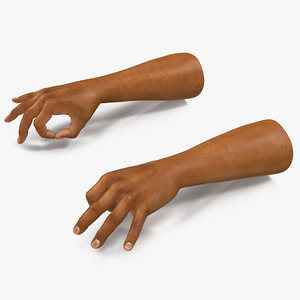 3d model of man hands 2 pose