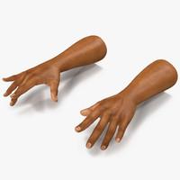 african man hands 2 3d fbx