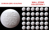 Wall Stone Brush Collection 1
