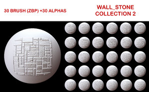 Wall Stone Brush Collection 2