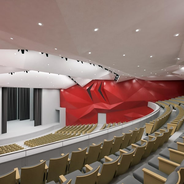 3d concert hall chairs model
