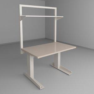 height adjustable workbench 3d model