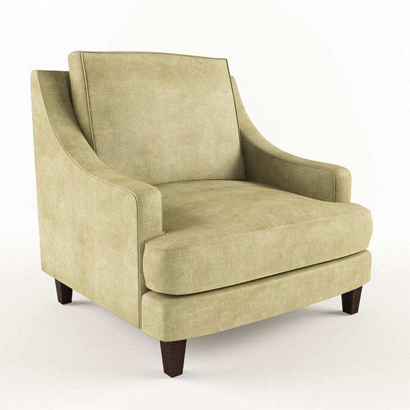 3ds pottery barn landon upholstered