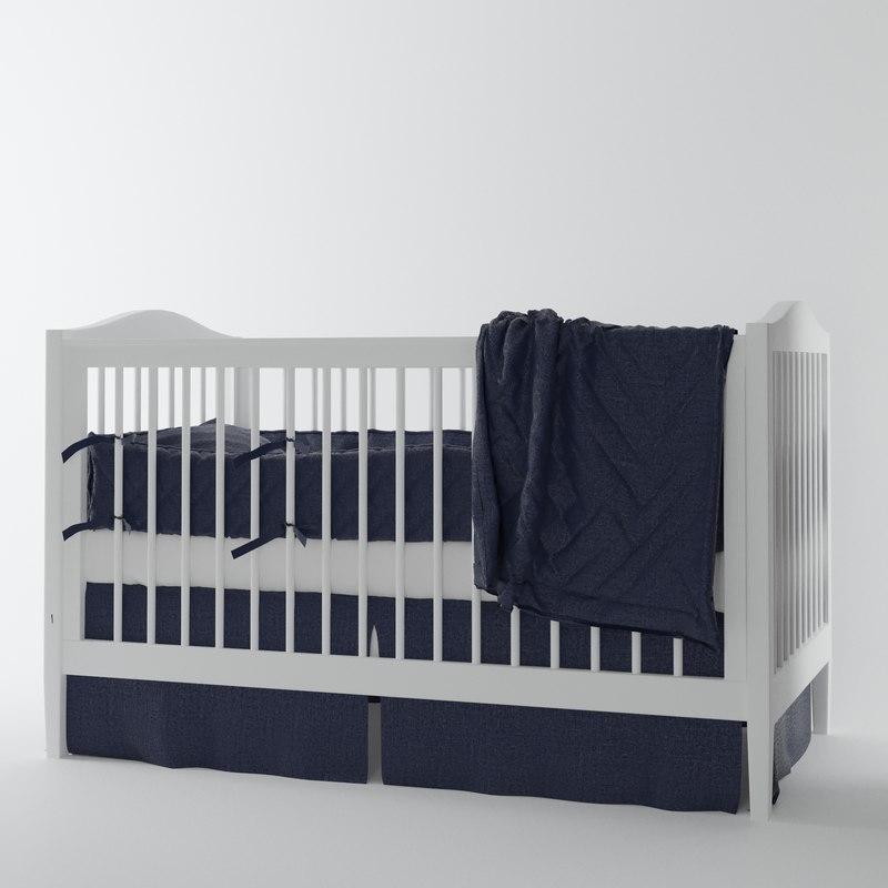 belgian flax linen nursery 3d max