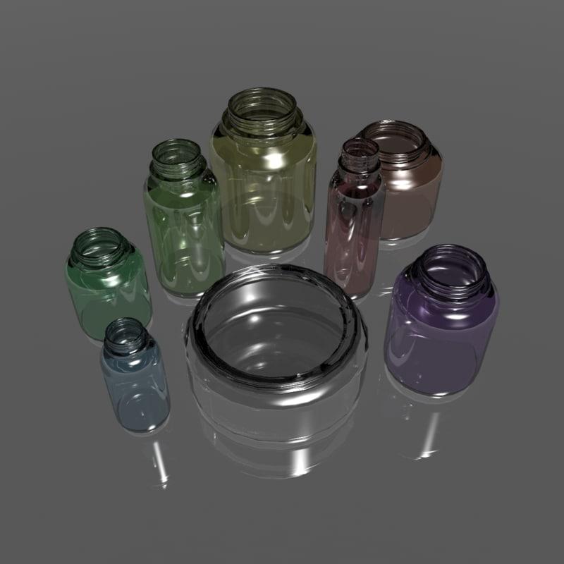 vials jars 3d 3ds